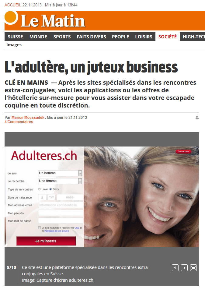 Application adultere